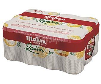 Mahou Cerveza con zumo natural de limón Pack 12 latas x 33 cl