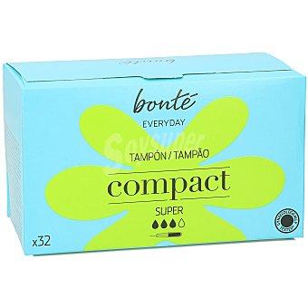 Bonté Tampón compacto con aplicador super paquete 32 ud Paquete 32 ud