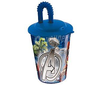Marvel Vaso con tapa y pajita, diseño Los Vengadores, 0,43 litros de capacidad, modelo Avengers Assemble 1 unidad