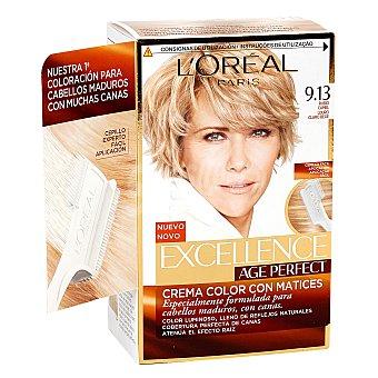 Age Perfect L'Oréal Paris Tinte rubio camel nº 9.13 crema color en matices para cabellos maduros y blancos Caja 1 unidad