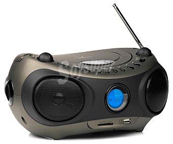 ENERGY SISTEM BOX Z400 Radio CD con sintonizador de radio FM, conector usb, lector de tarjetas, color negro