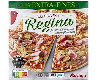 PRODUCTO ALCAMPO Pizza de masa extra fina con jamón y queso 365 g