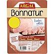 Pechuga de pavo en lonchas finas Envase 80 g Bonnatur Argal