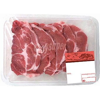 AVINYO Aguja en filetes de cerdo (lomo cabeza) peso aproximado Bandeja 400 g