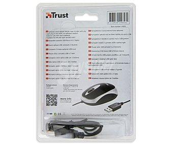TRUST CENTA Mini ratón óptico con cable, 3 botones, conexión Usb