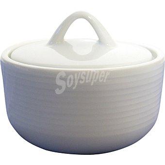 SANTA CLARA Iria Azucarero con tapa de porcelana en color blanco 1 Unidad