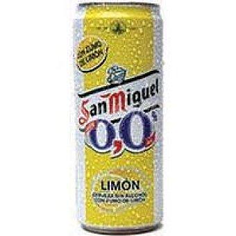 San Miguel Cerveza 0,0 con limón Lata de 33 cl