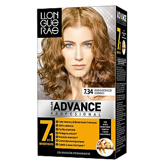 Llongueras Tinte color Advance Nº 7.34 1 ud