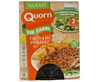Quorn Filete sin carne a la pimienta 2 unidades 195 gramos