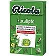 Caramelos balsamicos de hierbas suizas sin azucar sabor eucalipto caja 50 g 50 g Ricola