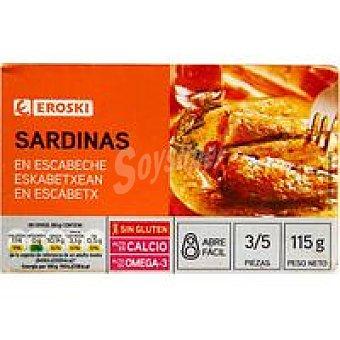 Eroski Sardina en escabeche Lata 80 g