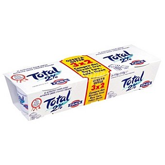 TOTAL Yogur griego natural 2% m.g Pack 3 unidades 170 g