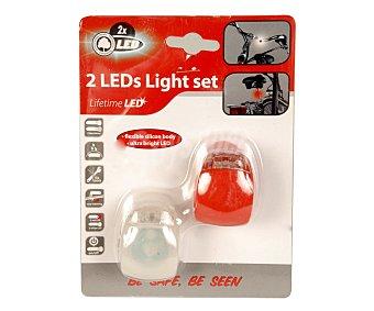 EDCO Juego de 2 luces led de silicona resistente y duradera, montaje sin herramientas. Funciona con 2 pilas de botón CR2032 incluidas 1 unidad