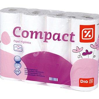 DIA Papel higiénico compacto blanco Paquete 12 ud