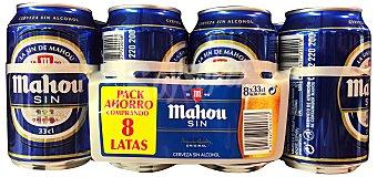 Mahou Cerveza rubia sin alcohol Lata pack 8 x 330 cc - 2640 cc