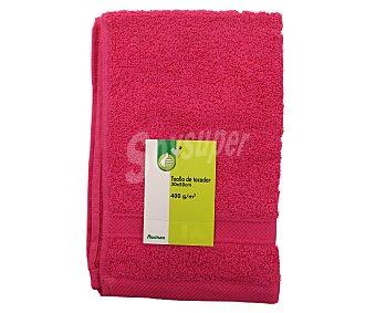 Productos Económicos Alcampo Toalla de tocador 100% algodón, 400g/m², color rosa fucsia, 30x50 centímetros 1 Unidad