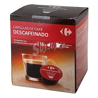 Dolce Gusto Nescafé Café descafeinado en cápsulas Carrefour compatible con 16 unidades de 7 g