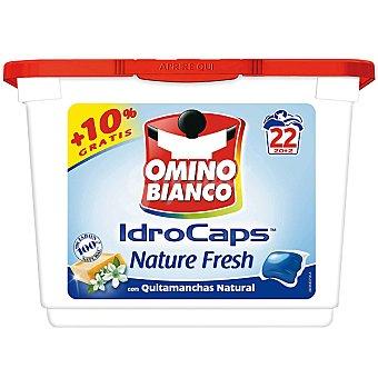 Omino Bianco Detergente máquina líquido Nature Fresh con quitamanchas natural envase 22 capsulas Envase 22 capsulas