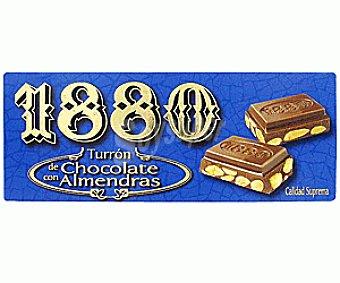 1880 Turrón de chocolate con almendras 250 gramos