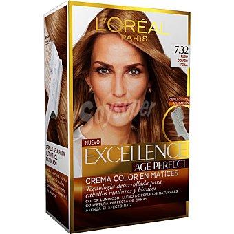 EXCELLENCE Age Perfect tinte rubio dorado perla nº 7.32 crema color en matices para cabellos maduros y blancos caja 1 unidad