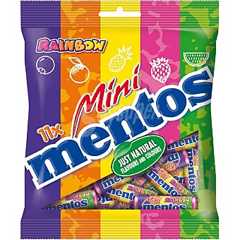 MENTOS Caramelo mini mentos rainbow  bolsa de 121 g
