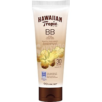 Hawaiian Tropic Loción solar BB cream para rostro y cuerpo FP-30 tubo 150 ml tubo 150 ml