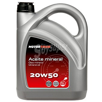 MOTORTOWN 20W50 Aceite mineral de motor para automóvil 5 l
