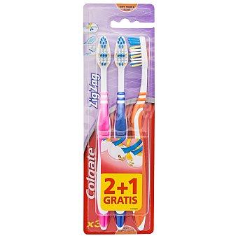 Colgate Cepillo dental Zig Zag medio blister 3 unidades