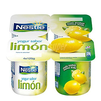 Nestlé Yogur sabor limón Pack 4x125 g