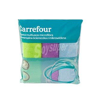 Carrefour 3 Bayetas Multiusos de Microfibra - Colores surtidos 3 ud