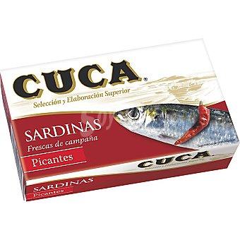 Cuca Sardinas picantes en aceite Lata de 85 g neto escurrido