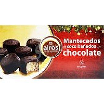 Airos Mantecados de coco con chocolate sin gluten Caja 170 g