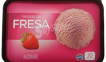 Hacendado Helado tarrina fresa 1 litro