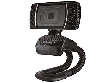 TRUST Trino Cámara web, vídeo 720p, foto 8 mpx, micrófono incorporado, conexión Usb