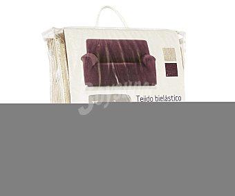 Auchan Funda elástica de chenilla para sofá de 3 Plazas, modelo caribe, color crudo 1 Unidad