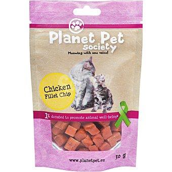 Planet pet Snack para gatos en tacos de pollo  envase 30 g