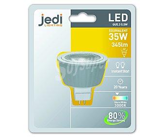 JEDI Bombilla led foco 5,5 Wattios, casquillo GU5.3, luz cálida 1 unidad