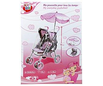 Rik&Rok Auchan Silla de paseo con protector y sombrilla para muñecos bebé de hasta 40 centímetros 1 unidad