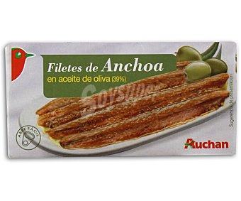 Auchan Filetes de anchoa en aceite de oliva 47,5 gramos