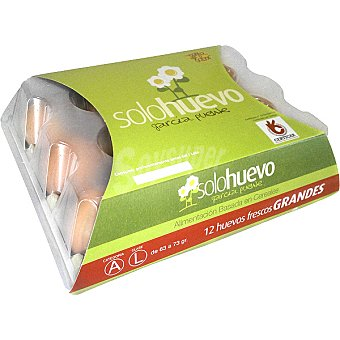 Solohuevo Huevos frescos clase L estuche 12 unidades