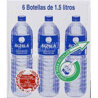 Alzola Agua mineral natural Pack 6x1,5 litros
