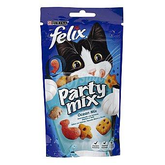 Purina Felix Snack para gatos con sabor ocean (salmón, pescado blanco y trucha) paquete 60 g