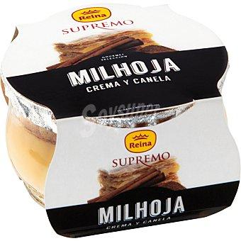 REINA SUPREMO Milhoja de crema y canela  envase 100 g