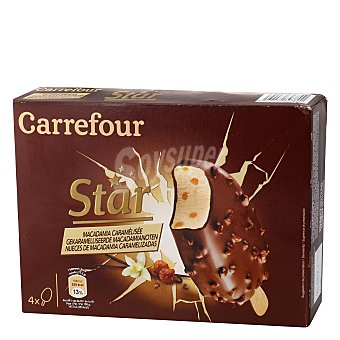 Carrefour Bombón helado Star Pack de 4 unidades de 73,5 g