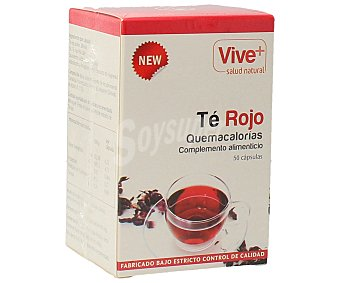 Vive+ Complemento alimenticio de té rojo quemacalorías 50 cápsulas