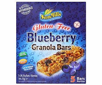 Sam Mills Barritas cereales de arándanos sin/gluten 141 Gramos