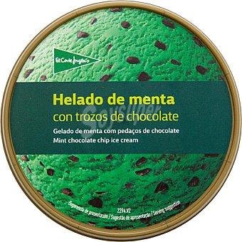 El Corte Inglés helado de menta con trozos de chocolate tarrina 500 ml