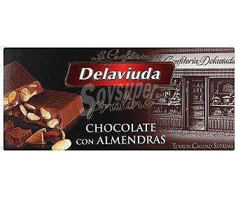 Delaviuda Turrón praliné de chocolate con almendras 300 gramos