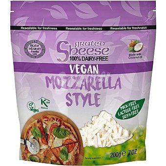 Sheese queso vegetal rallado estilo mozzarella sin leche, sin lactosa y sin soja con aceite de coco Bolsa 200 g
