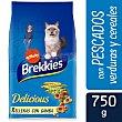 Delicious alimento para gatos con pescado y verdura Bolsa 750 gr Brekkies Affinity